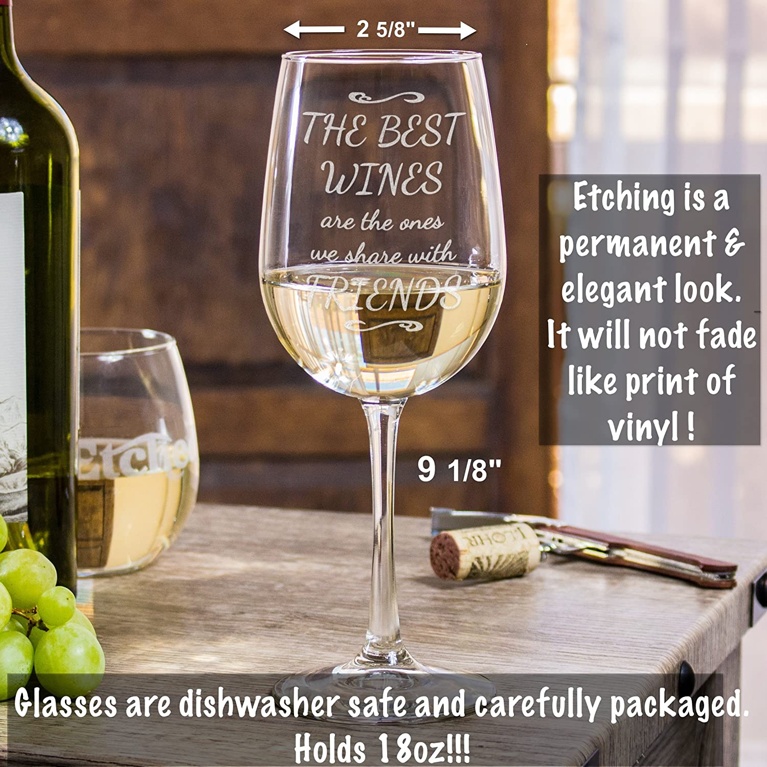 Best Dishwasher For Wine Glasses Amazoncom Funny Wine Glass The Best Wines Are The Ones We