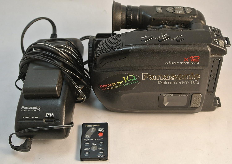 Amazon Com Panasonic Palmcorder Vhsc Pv Iq304 Palmsight Vhs C W Charger Dc Output Cable Battery Camera Photo