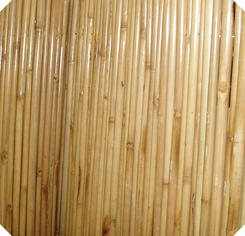 amazon com natural heavy duty bamboo fencing 6 u0027 x 6 u0027 garden