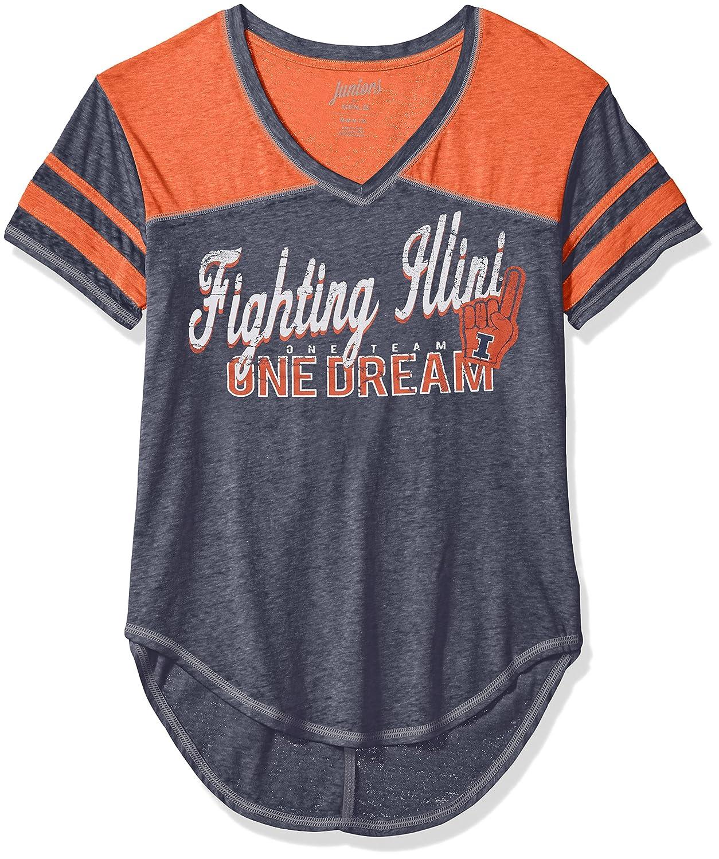 Small NCAA Illinois Illini Juniors Outerstuff Vintage Short Sleeve Football Tee 3-5 Team Color