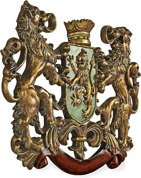 Silver LARGE WALL PLAQUE Crest Queen Elizabeth Warrant ROYAL COAT OF ARMS
