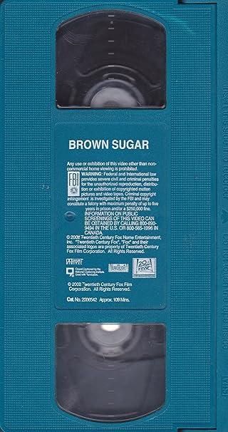 Amazon Com Brown Sugar Vhs Lathan Sanaa Diggs Taye Famuyiwa Rick Movies Tv