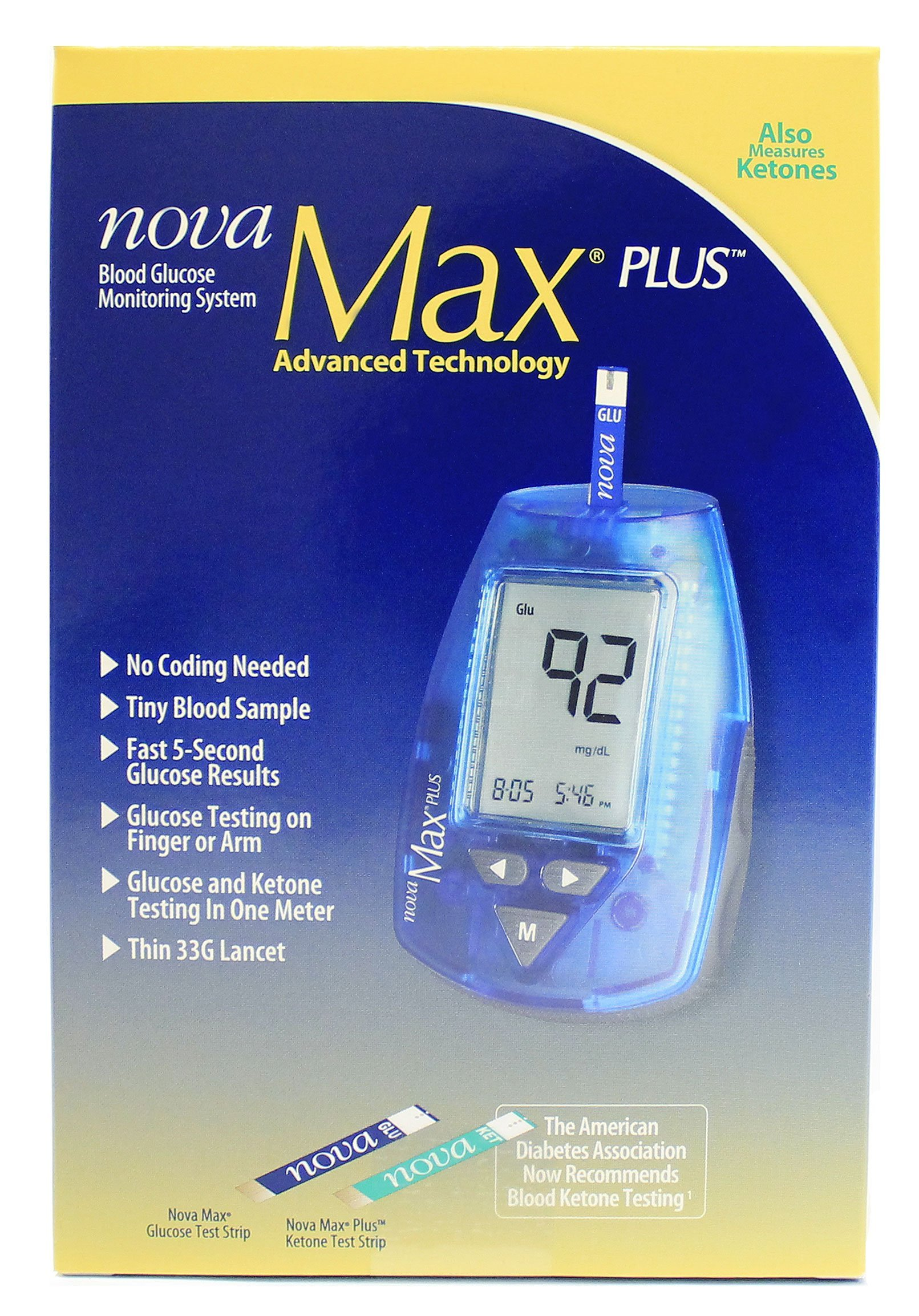 Nova Max Plus Glucose Monitoring System