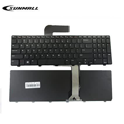 N5110 Keyboard for DELL Inspiron,SUNMALL Replacement Laptop Keyboard with  Frame for DELL Inspiron 15R N5110 M501Z M511R Ins15RD-2528 2728 2428 (6