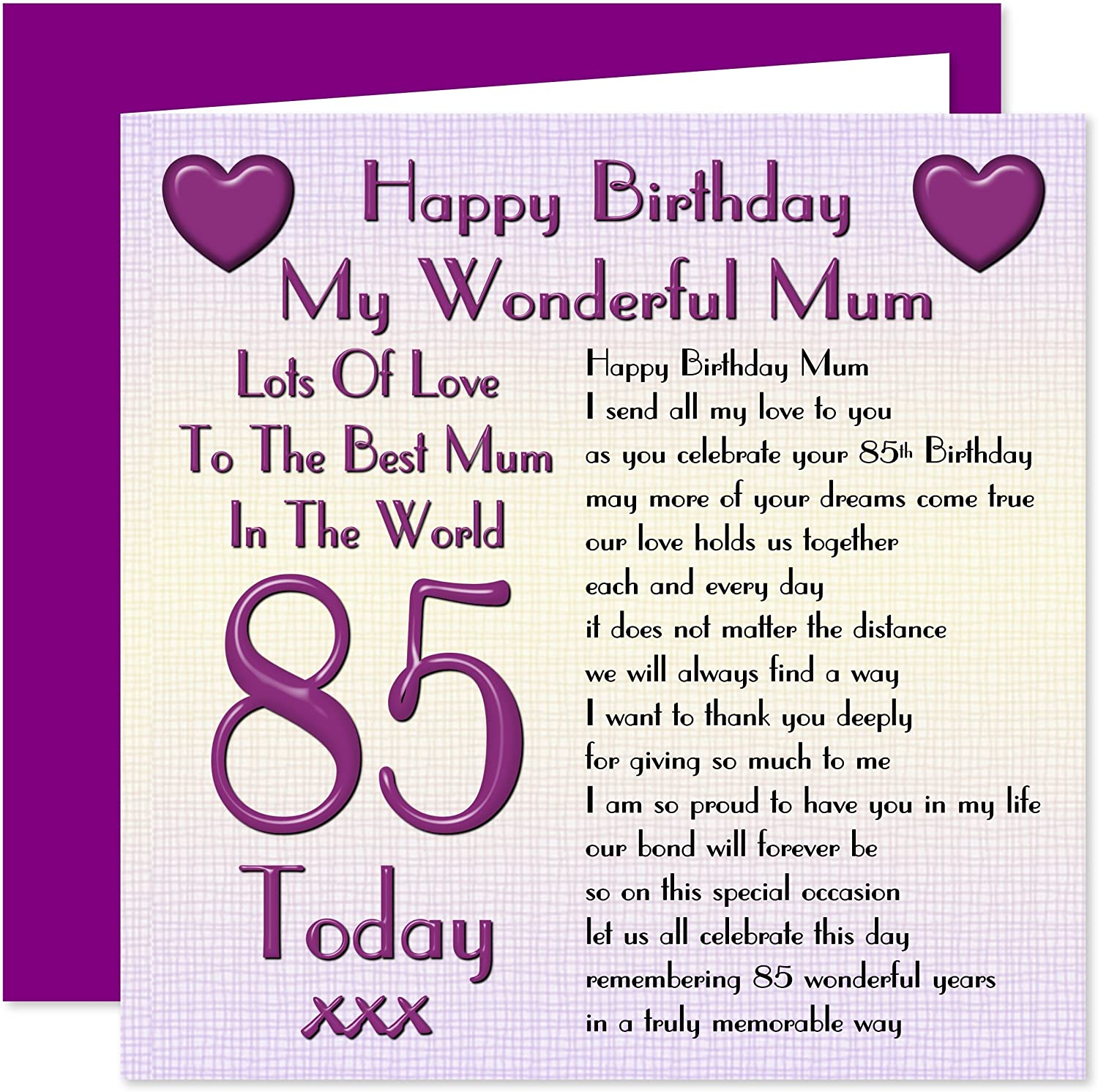 Mum 4th Happy Birthday Card - Lots of Love to The Best Mum in The World -  4 Today
