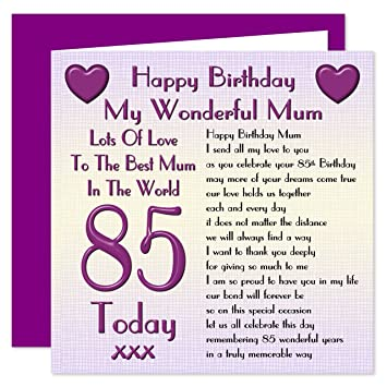 Mum 85th Happy Birthday Card