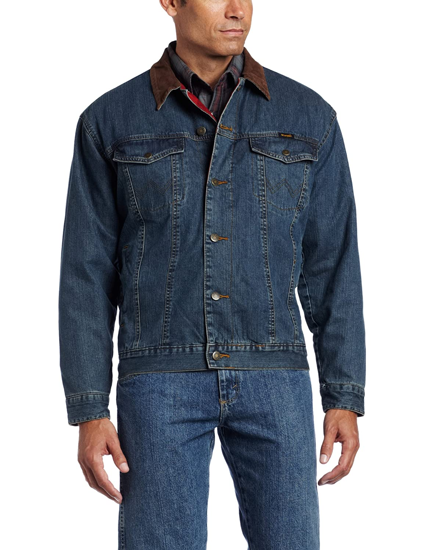 fe010ce837e Wrangler Men s Rustic Blanket Lined Denim Jacket  Amazon.co.uk  Clothing