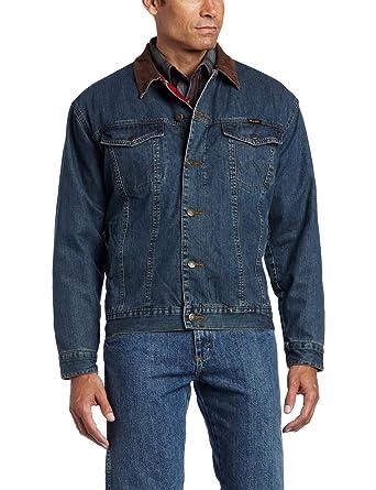 c72bc2cc7d Wrangler Men s Rustic Blanket Lined Denim Jacket