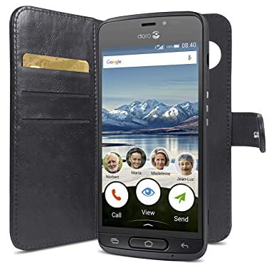 newest 9afdd f0aed Doro 8035 Magnetic Wallet Case with Card Holder (Black)
