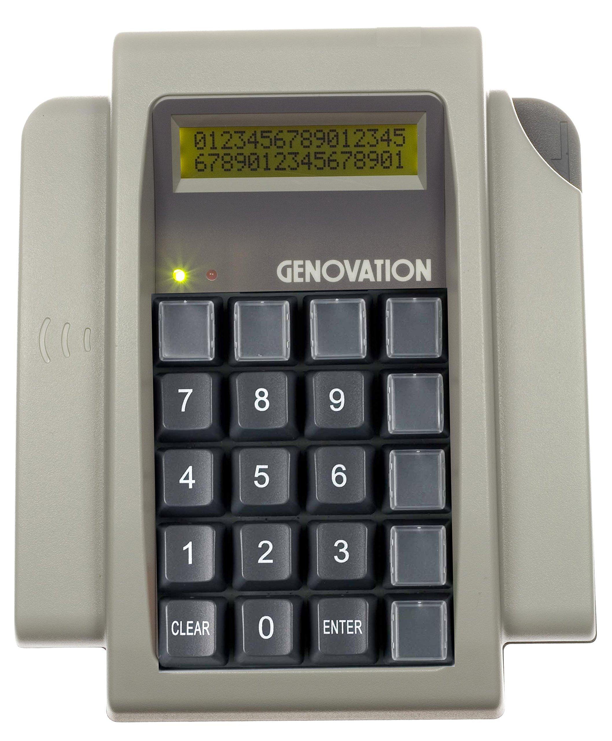 Genovation Mini Term 910: 20 Key Mechanical including 8 Relegendable Keys, 2 ines LCD USB
