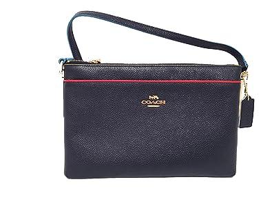 coach f38079 journal crossbody in edgestain leather handbags rh amazon com