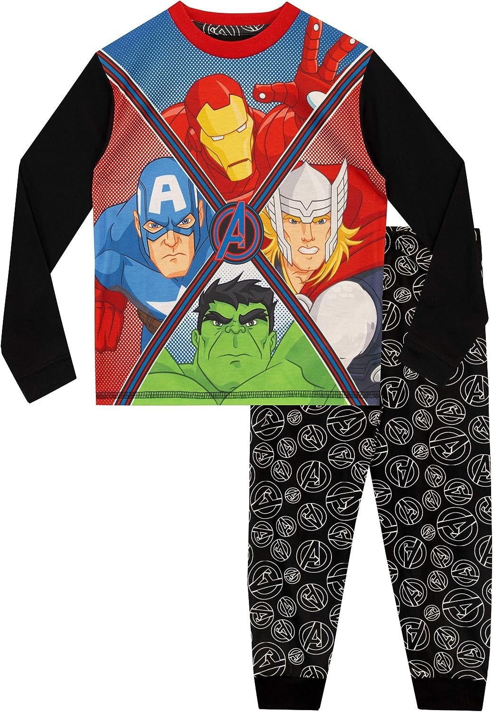 Marvel – Conjunto de pijama para niño, diseño de Los Vengadores: Iron Man, Capitán Amércia, Thor y Hulk: Amazon.es: Ropa y accesorios
