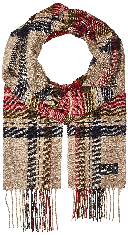 Pendleton Men's Whisperwool Muffler Scarf Grey Plaid One Size GR629