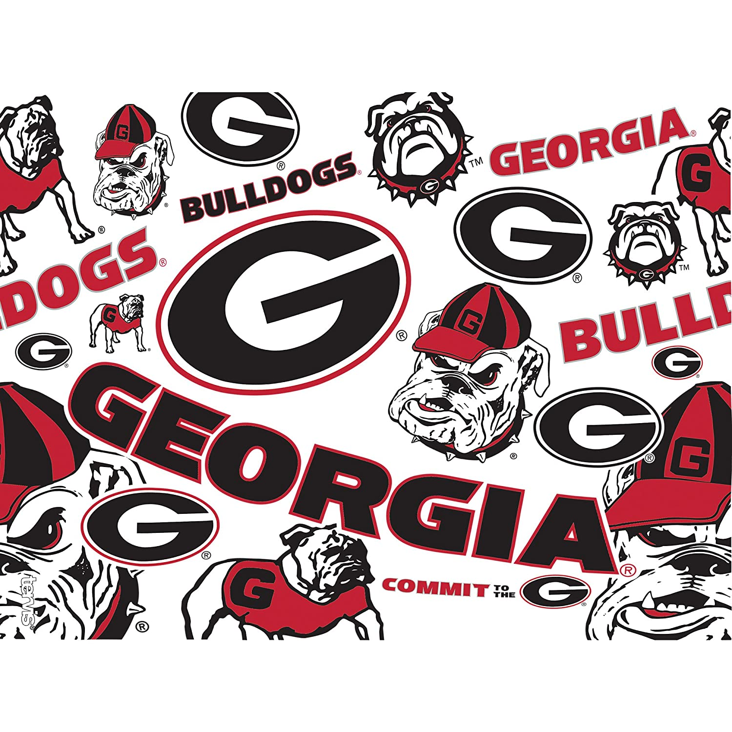 Tervis 1240561 NCAA Georgia Bulldogs All Over Tumbler With Lid 24 oz Clear