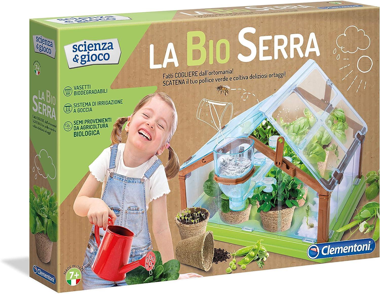 Clementoni- Scienza & Gioco La Bio Serra Kit de Ciencia y Experimentos en Italiano, 7+ Años, Multicolor (13039) , color/modelo surtido