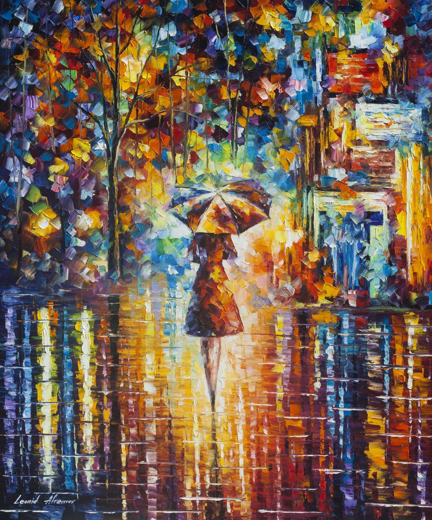 RAIN PRINCESS 3 (40 x 30) - Artist Proof by Leonid Afremov by