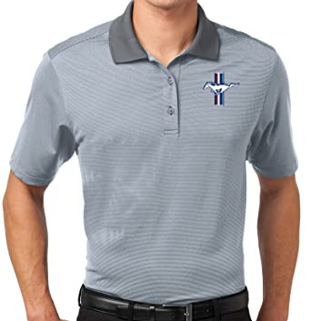 65420aa8649bc Buy Cool Shirts Mens Ford Mustang GT Fine-Stripe Polo Shirt at Amazon Men s  Clothing store