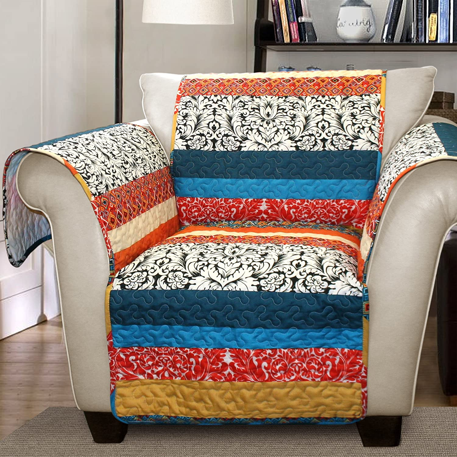 Amazon Lush Decor Boho Stripe Slipcover Furniture Protector