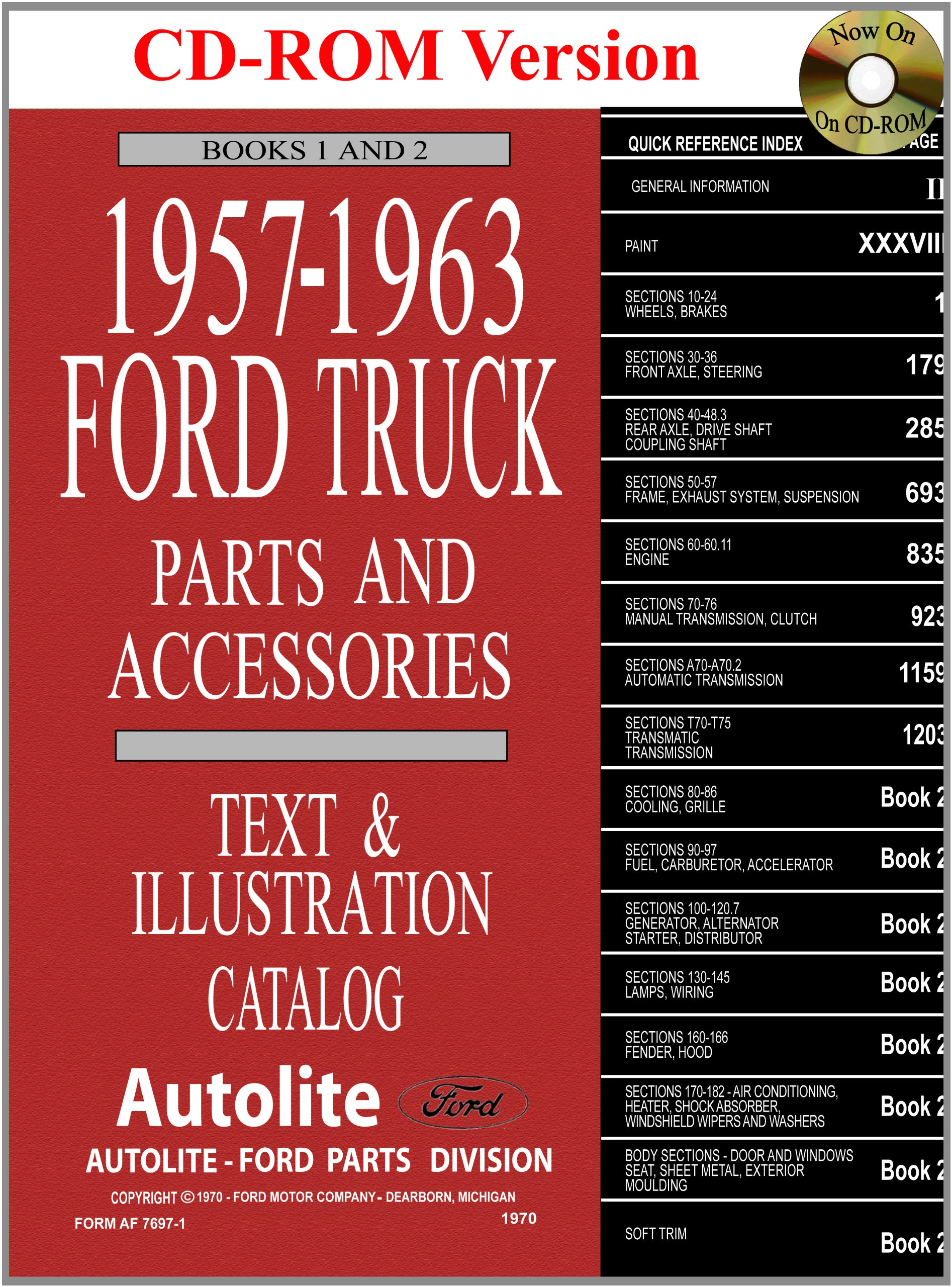 1957-63 Ford Truck Master Parts and Accessory Catalog pdf epub