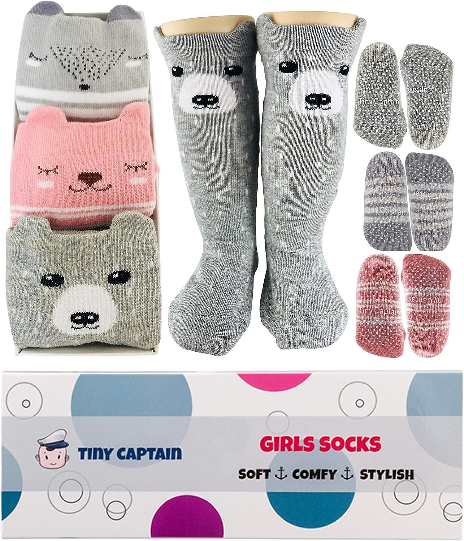 Baby Boys Girls Winter Slipper Socks Anti-slip Animal 6-24 Months