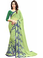 Navya Women's Georgette Saree With Blouse Piece (Nav311_Multi-Coloured)