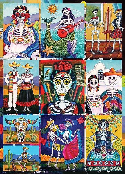 amazon com dia de los muertos 1000 piece jigsaw puzzle halloween