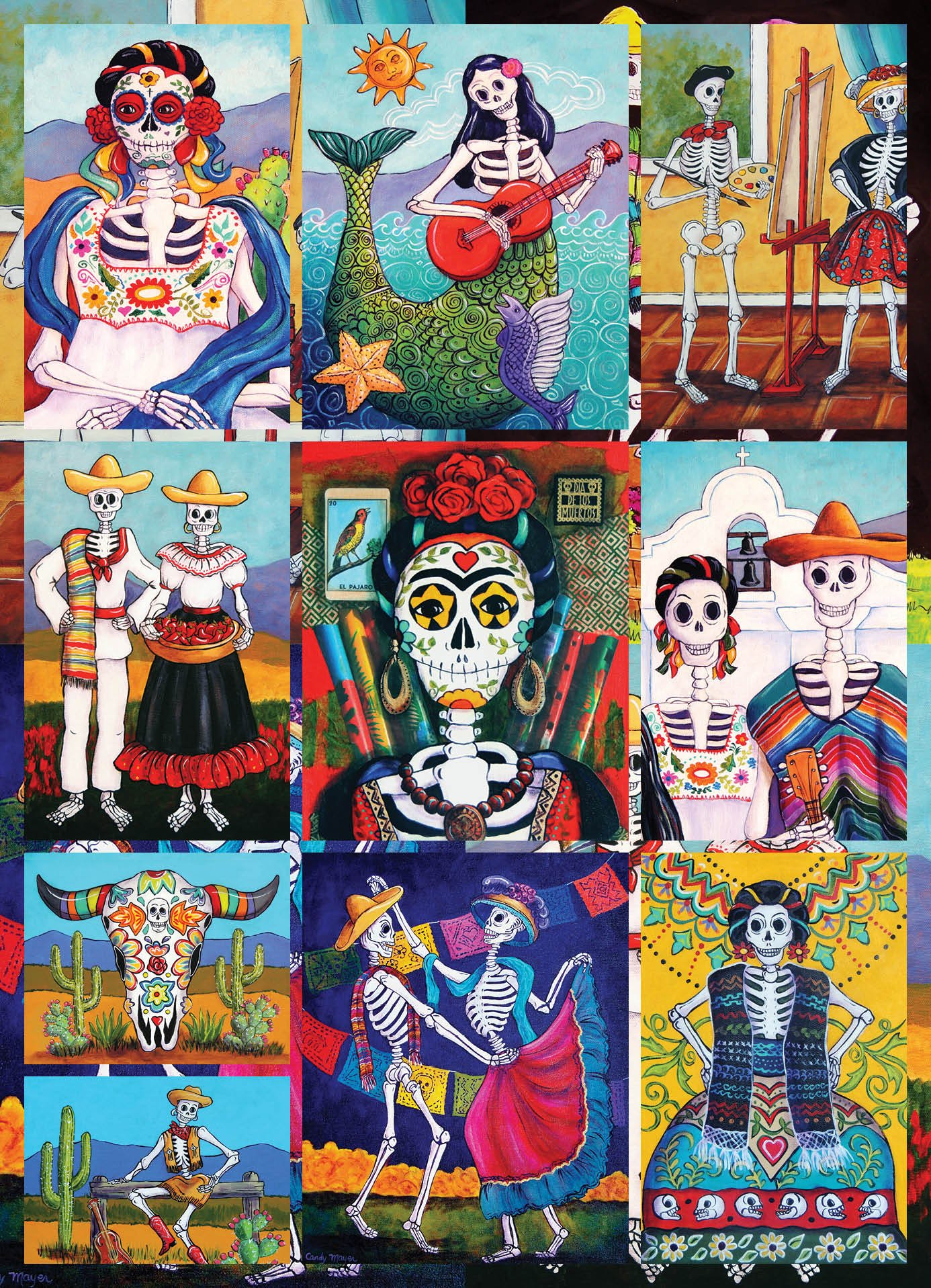 Sugar Skulls Jigsaw Puzzle 550 Piece