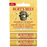 Burt's Bees 100% Natural Moisturizing Lip Balm, Beeswax - 2 Tubes, 2 Count