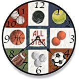 The Kids Room by Stupell All Star Sports Wall Clock