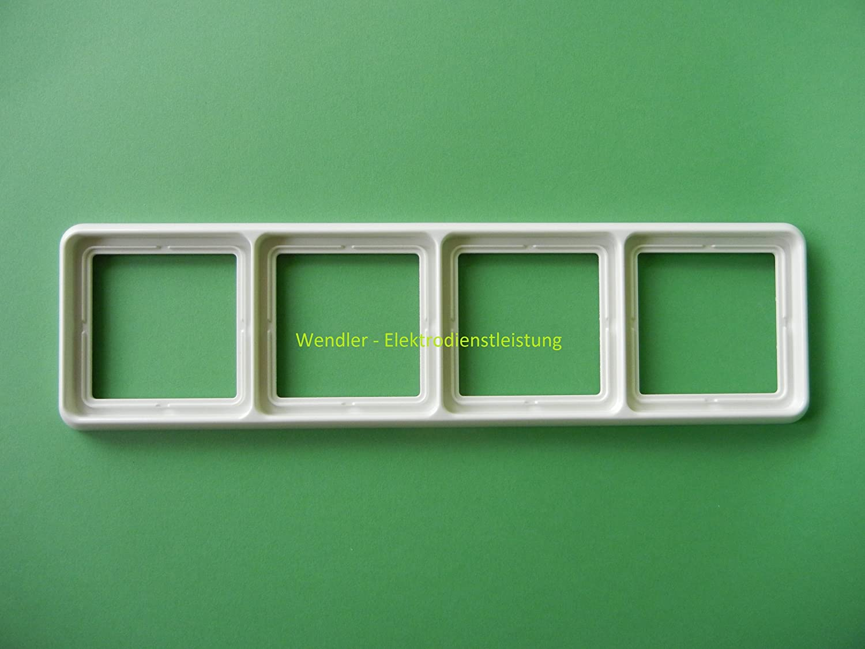 1 Stk JUNG CD 4fach Rahmen alpinweiss CD584WW