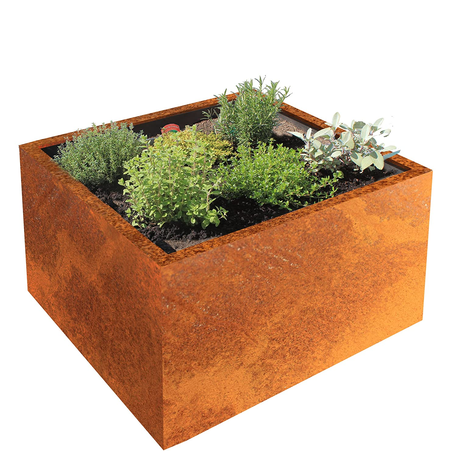 'Modular Raised Garden Bed/Planters Clara Corten Steel 80 x 80 cm, depth 50