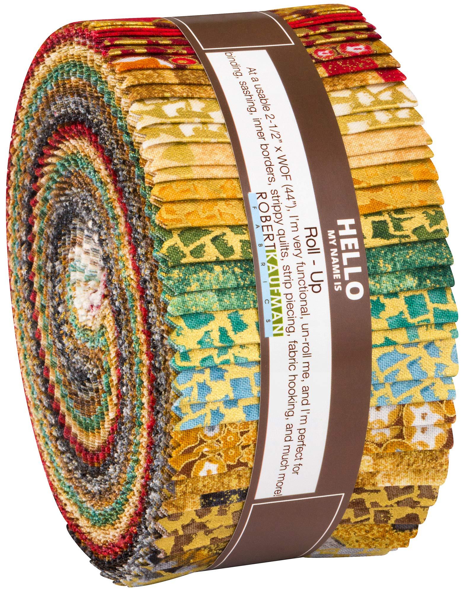 Gustav Klimt Roll Up 40 2.5-inch Strips Jelly Roll by Studio RK Robert Kaufman by Robert Kaufman