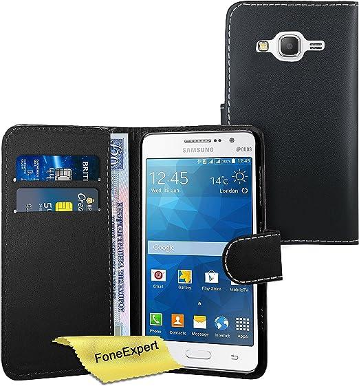 FoneExpert® Galaxy Grand Prime - Etui Housse Coque en Cuir Portefeuille Wallet Case Cover pour Samsung Galaxy Grand Prime SM-G530 G530FZ Film de ...