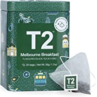 T2 Tea Melbourne Breakfast Black Tea, Black Tea Bags in Limited Edition Tin, 50 g