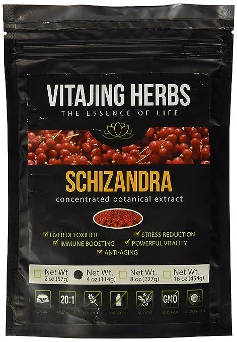 Organic Schizandra Berry (Schisandra Chinensis) Extract Powder