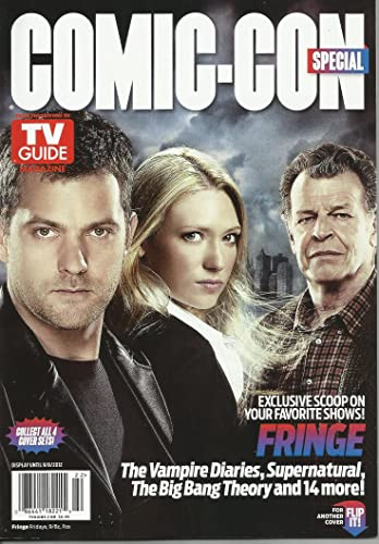 Warner bros and tv guide magazine to feature fringe, the vampire.