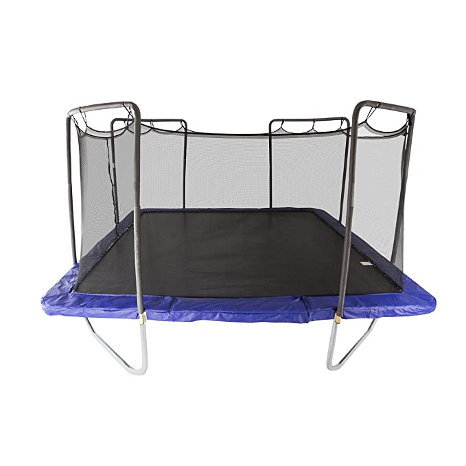 Skywalker Trampolines 15-Foot Square Trampoline with Enclosure Net - Best Rectangular Trampoline with Extended Jumping Surface