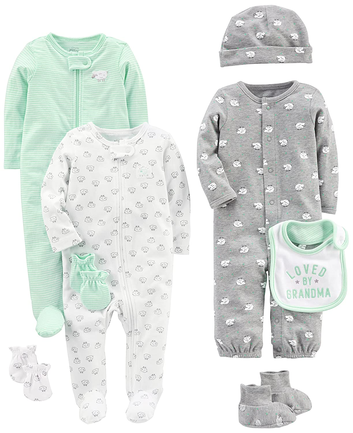 Simple Joys by Carter's Baby 8-Piece Footed Take Me Home Set Simple Joys by Carter' s A26G045