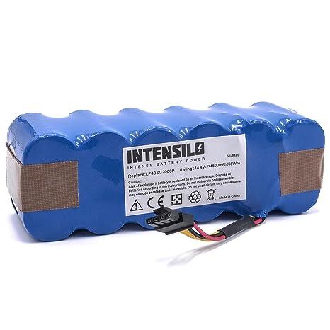 INTENSILO Batería NiMH 4500mAh (14.4V) para robots aspirador doméstico Haier SWR-T320