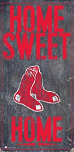 """Fan Creations Boston Red Sox 6"""" x 12"""" Home Sweet Home Wood Sign"""