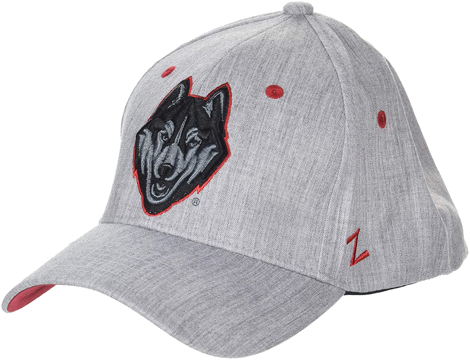 Grey NCAA Zephyr Connecticut Huskies Mens Tailored Stretch Hat X-Large