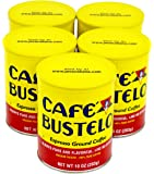 Cafe Bustelo Espresso Ground Coffee, 10 oz Canister, 5 Pack