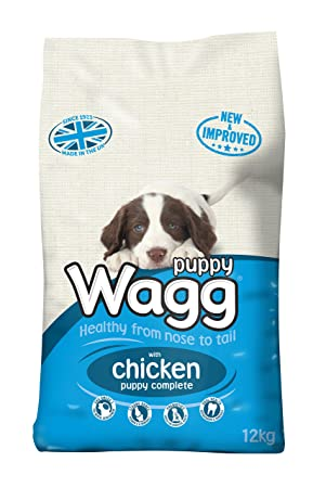 Wagg Puppy Food Complete Dry Mix 12 Kg Amazon Co Uk Pet Supplies