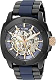 Fossil Modern Machine Automatic Stainless Steel And Silicone Watch
