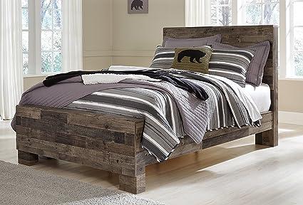 Amazoncom Derek Contemporary Multi Gray Color Wood Full Panel Bed