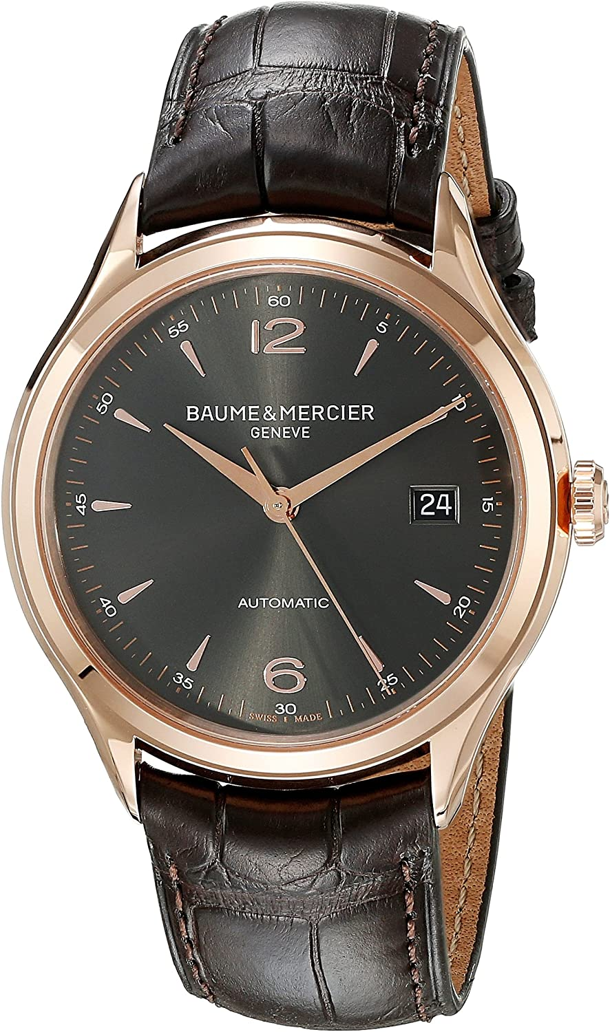 Baume Mercier Men s BMMOA10059 Clifton Analog Swiss Automatic Brown Watch
