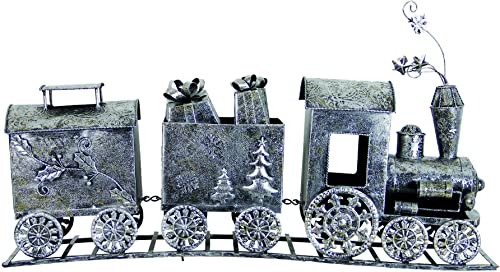 Exhart 11050 39″ Wide Metal 3-Part Train Statue