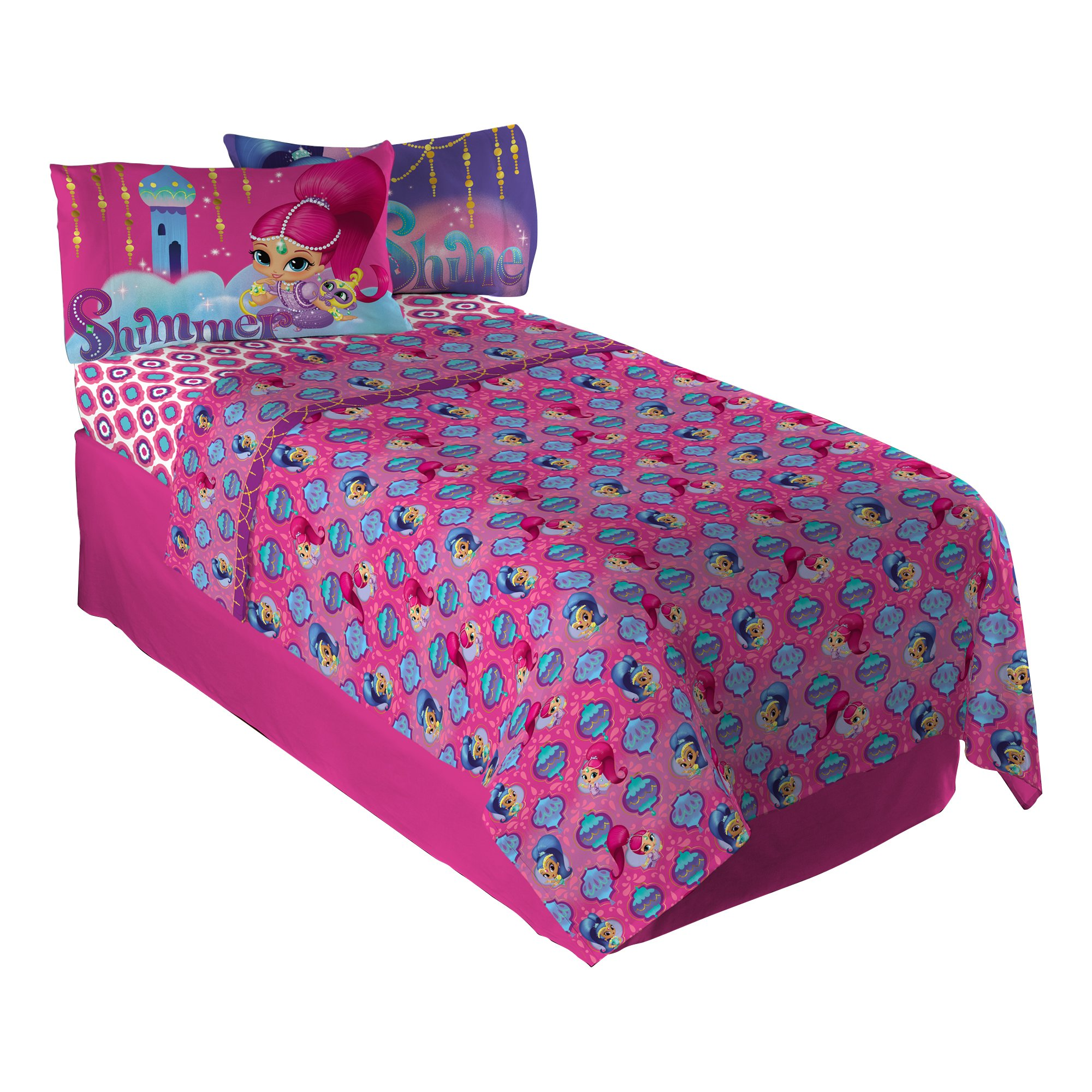 Shimmer & Shine Magical Wonder Sheet Set, Twin