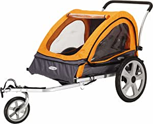 2-in-1 Kids/' Bicycle Trailer Stroller Jogger Bike Children Seat Outdoor Toys New