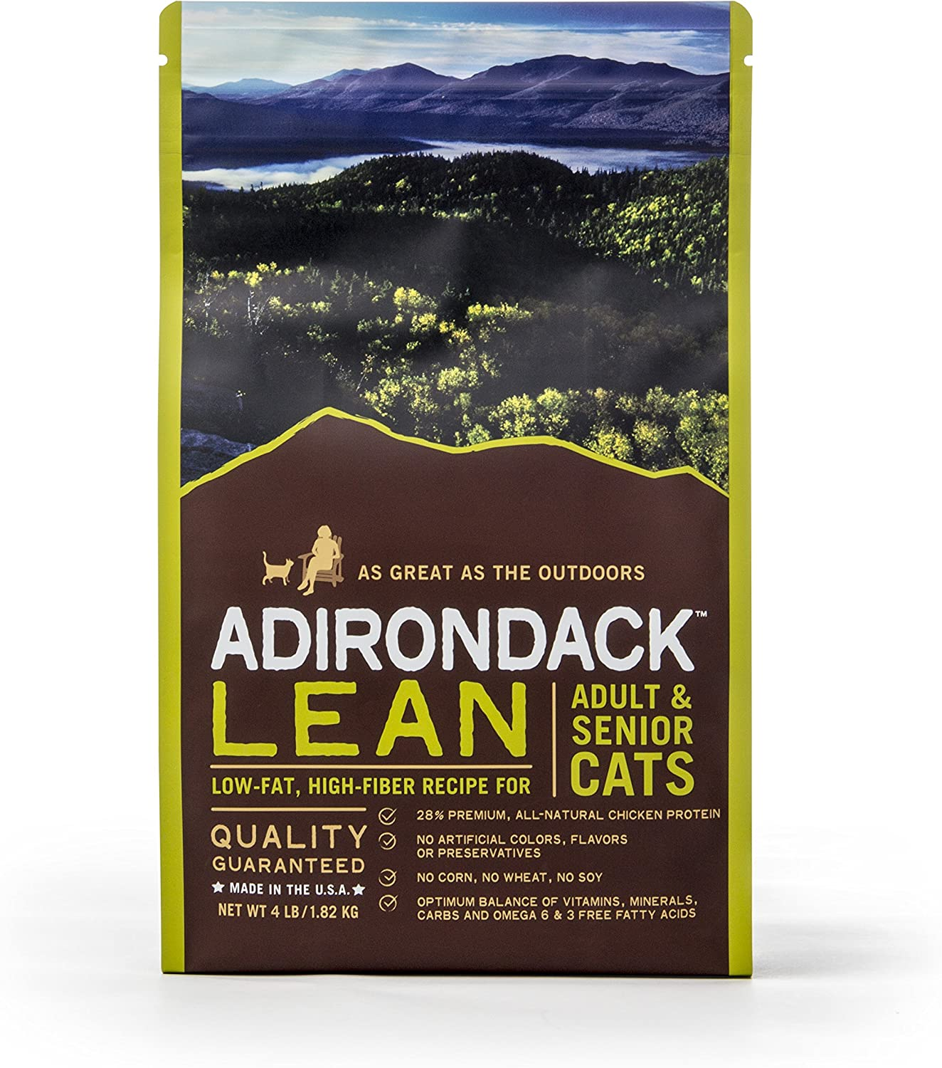 Adirondack Pet Food Lean Low-Fat, High Fiber Recipe for Adult & Senior Cats